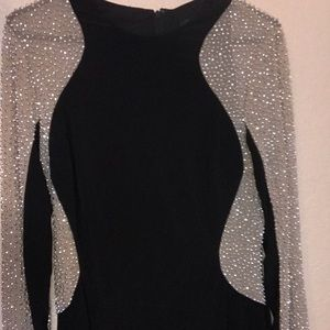 Studded evening gown